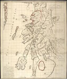 A map of such part of his Grace the Duke of Argyle's heritable dukedom, and justiciary territories, islands, superiorities & jurisdictions as lye contiguous upon the western Coast of North Britain