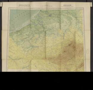 Belgique. Carte oro-hydrographique 1:500 000 = België oro-hydrografische kaart 1:500 000