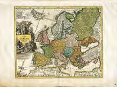 Novissima totius Europæ in suos principaliores status accurate divisæ repræsentatio