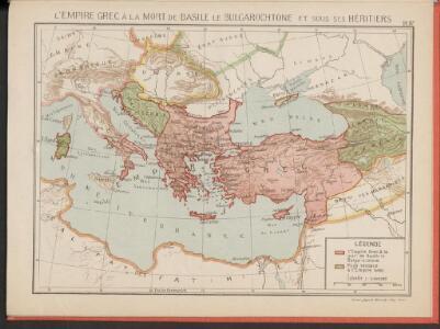 L'Empire Grec à la mort de Basile le Bulgarochtone et sous ses Héritiers