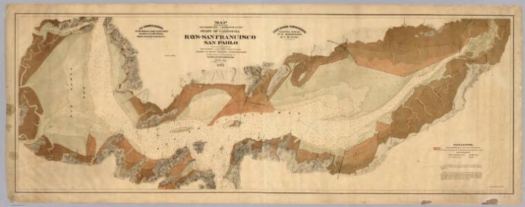 Map exhibiting the salt marsh ... lands adjacent to the bays of San Francisco and San Pablo.