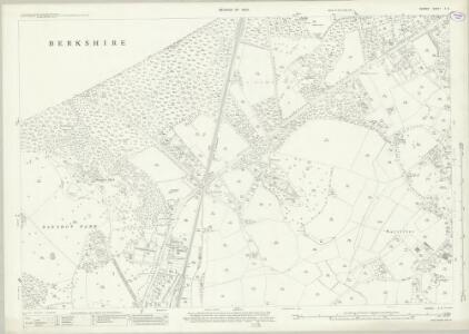 Surrey X.9 (includes: Windlesham; Winkfield) - 25 Inch Map
