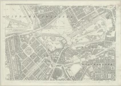 London (First Editions c1850s) XLIII (includes: City Of Westminster) - 25 Inch Map