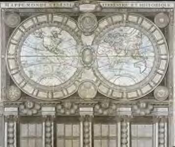 Mappe-Monde celeste terrestre et historique