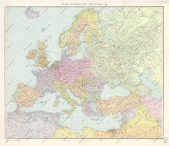 Neue Wandkarte von Europa