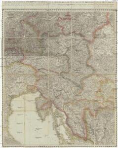 Charte von Innerostreich od. den Herzogthumern Steyermark, Kaernten u. Krain, mit den Gebiethen v. Gorz u. Triest