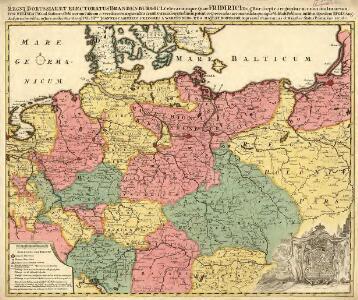 Regni Borussiae et Electoratus Brandenburgici, Ceterarum que, Quae Fridirici Reg. Bor. sceptro reguntur nec non finitimarum Prov. Delineatio