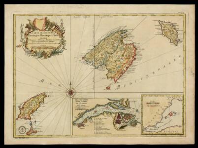 Carte des Isles de Maiorque, Minorque et Yvice / par N.B.