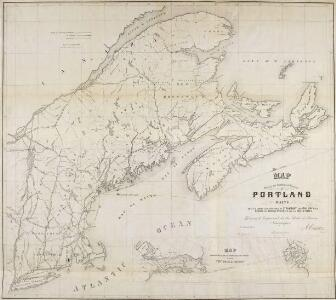 Map, showing the commercial position of Portland