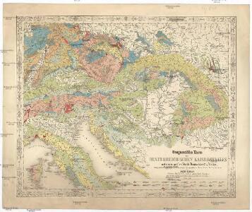 Geognostische Karte des Oesterreichischen Kaiserstaates mit einem grossen Theile Deutschland's u. Italien