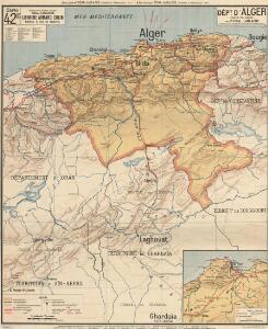 Dépt D' Alger carte politique