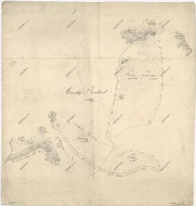 Záměrná mapa pozemků a rybníků dvora Pernolec