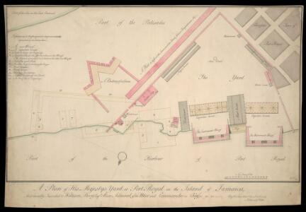 A Plan Of His Majesty's Yard At Port Royal In The Island Of Jamaica