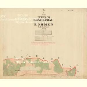 Beneschau - c0113-2-002 - Kaiserpflichtexemplar der Landkarten des stabilen Katasters