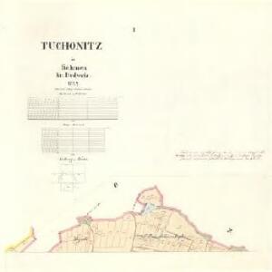 Tuchonitz - c8100-1-001 - Kaiserpflichtexemplar der Landkarten des stabilen Katasters