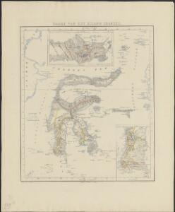 Kaart van het eiland Celebes
