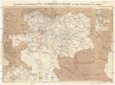 Prochaska's Eisenbahnkarte von Oesterreich-Ungarn für 1892