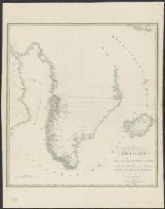Groenland und die angraenzenden Laender nach den Charten und Berichten von Cranz, Egede, Gieseke, Graah, Olavsen, Parry, Ross, Scoresby, Thorhallesen u.a.