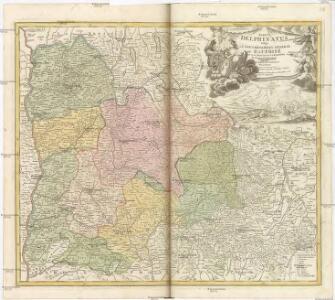TABULA DELPHINATUS Vulgo [LE] GOUVERNEMENT GENERAL DU DAUPHINÉ IN SVOS BALLIFIATUS ET REGIONES divisus