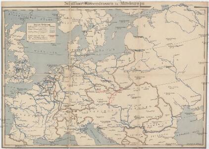 Schiffbare Wasserstrassen in Mitteleuropa