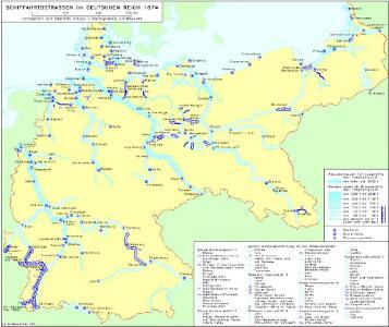 Schiffahrtsstraßen im Deutschen Reich 1874