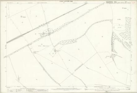Hertfordshire IV.11 (includes: Kelshall; Litlington; Steeple Morden; Therfield) - 25 Inch Map