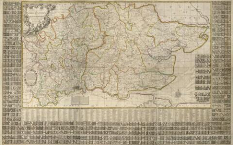 A New and Correct MAPP OF MIDDLESEX, ESSEX AND HERTFORDSHIRE With the Roads Rivers Sea-Coast ACTUALLY SURVEYED