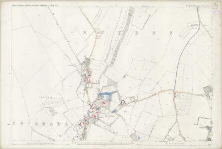 Essex (1st Ed/Rev 1862-96) II.13 (includes: Chrishall; Great Chishill; Heydon) - 25 Inch Map
