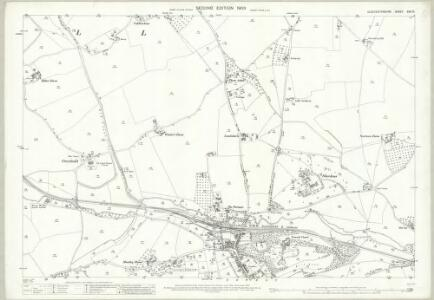 Gloucestershire XVII.10 (includes: Newent; Oxenhall) - 25 Inch Map