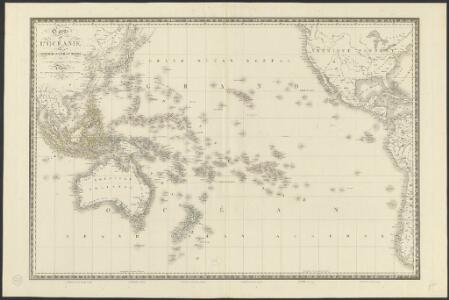 Carte de l'Océanie ou cinquième partie du monde