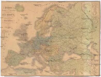 Praktische Geschäfts und Reisekarte sämmtlicher Staaten von Europa