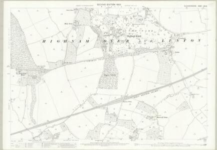 Gloucestershire XXV.13 (includes: Churcham; Hempsted; Highnam; Minsterworth) - 25 Inch Map