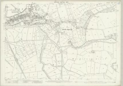 Somerset LXXII.8 (includes: High Ham; Huish Episcopi; Langport; Long Sutton; Muchelney) - 25 Inch Map