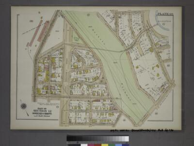 Plate 69, Part of Section 12, Borough of the Bronx. [Bounded by Jerome Avenue, E. 204th Street, Grand Boulevard, E. 202nd Street, Briggs Avenue, Mosholu Parkway South, Bainbridge Avenue, Reservoir Oval East and E. 208th Street.]