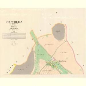 Tieschetin (Těssetin) - c7890-1-001 - Kaiserpflichtexemplar der Landkarten des stabilen Katasters