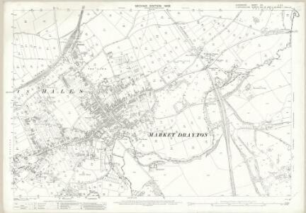 Shropshire XVI.2 & XVI.3 (includes: Market Drayton; Moreton Say; Norton In Hales; Tyrley) - 25 Inch Map