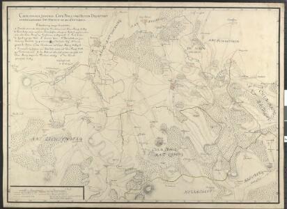 Carte von dem zwischen Chur Pfalz und Hessen Darmstadt gemeinschaftlichen Amt Umstatt mit den Centorten
