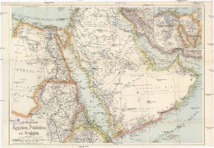 G. Freytags Kriegskarte von Ägypten, Palästina und Arabien
