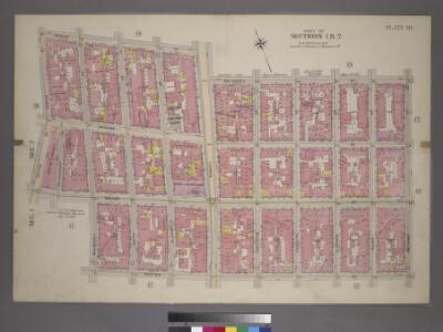 Plate 18, Part of Sections 1&2: [Bounded by Spring Street, Bowery Street, Delancey Street, Orchard Street, Hester Street, Mulberry Street, Grand Street, Centre Street and Marion Street.]