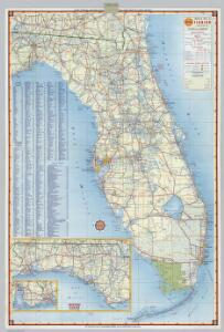 Shell Highway Map of Florida.
