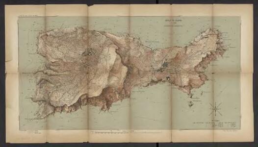 Isola di Capri = Plan de l'île de Capri