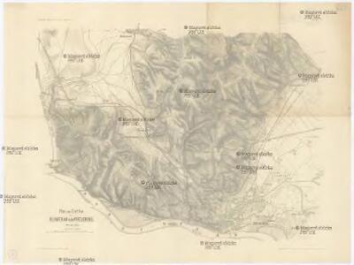 Plan zum Treffen bei Blumenau und Pressburg 22. Juli 1866