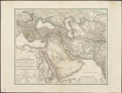 Das gesammte Osmanische Reich so-wie die Besitzungen des Pascha's Von Ägypten in Europa, Asia und Africa : Griechenland, Iran, Afghanistan, Beludschistan, Turan und Arabien, nebst angrenzenden Theilen von Oesterreich, Russland, und Vorderindien