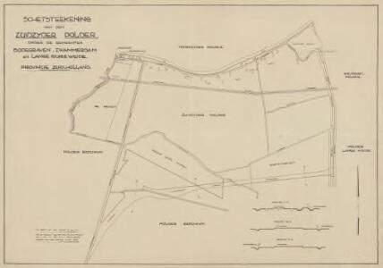 Zuidzijderpolder, gemeente Bodegraven, Zwammerdam en Lange Ruige Weide.