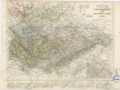 Sachsen die Staaten in Thüringen und benachbartex Länder