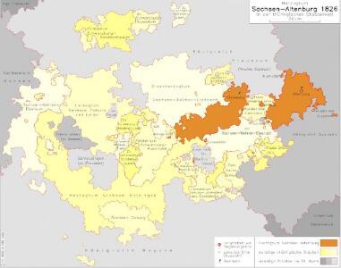 Herzogtum Sachsen-Altenburg in der thüringischen Staatenwelt 1826