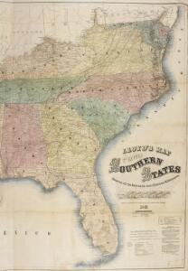 Lloyd's Map of the Southern States