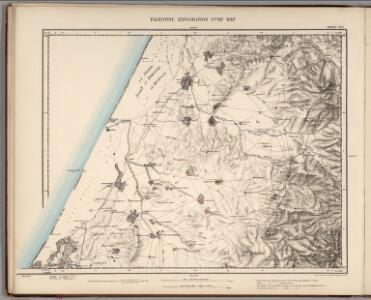 Sheet XVI.  Palestine Exploration Map.