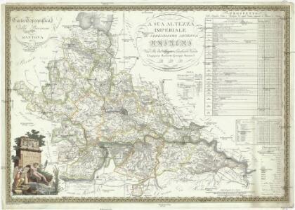 Carta topografica della provincia di Mantova