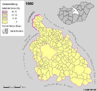 Serben im Komitat Pest 1980
